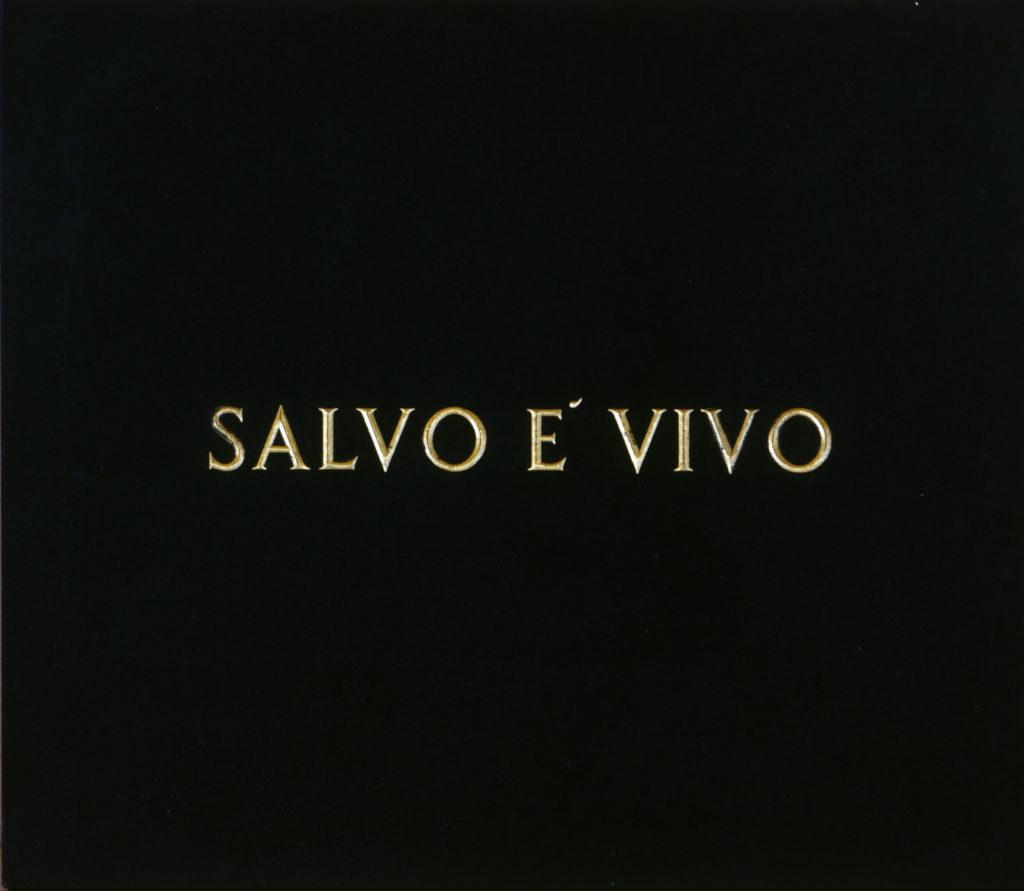 Salvo è vivo - Salvo è morto, 1970, lapide in marmo, 60 x 70 cm