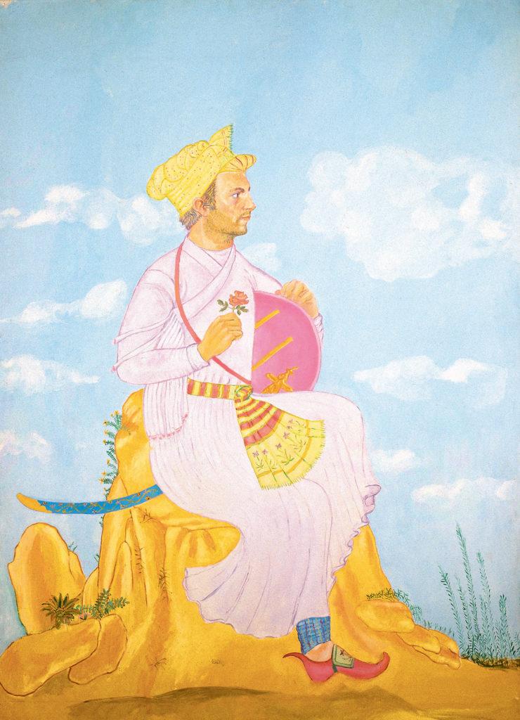 Autoritratto Ali Adil Sha, 1973-1974, olio su tela, 200 x 150 cm