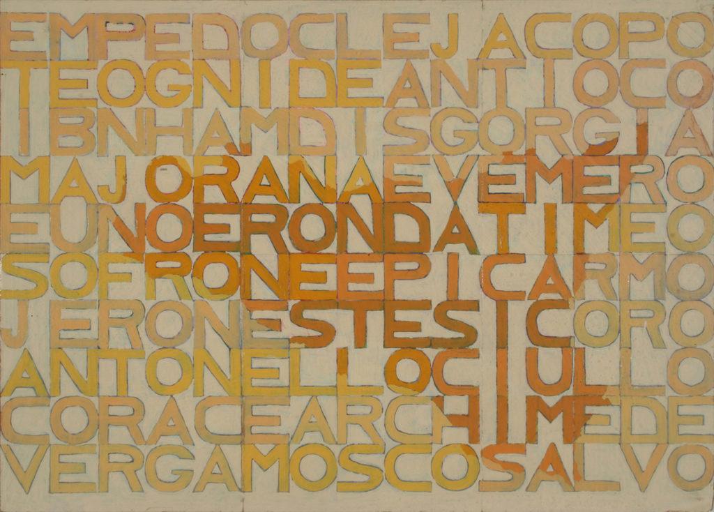 22 siciliani, 1975, olio su tela, 32 x 45 cm