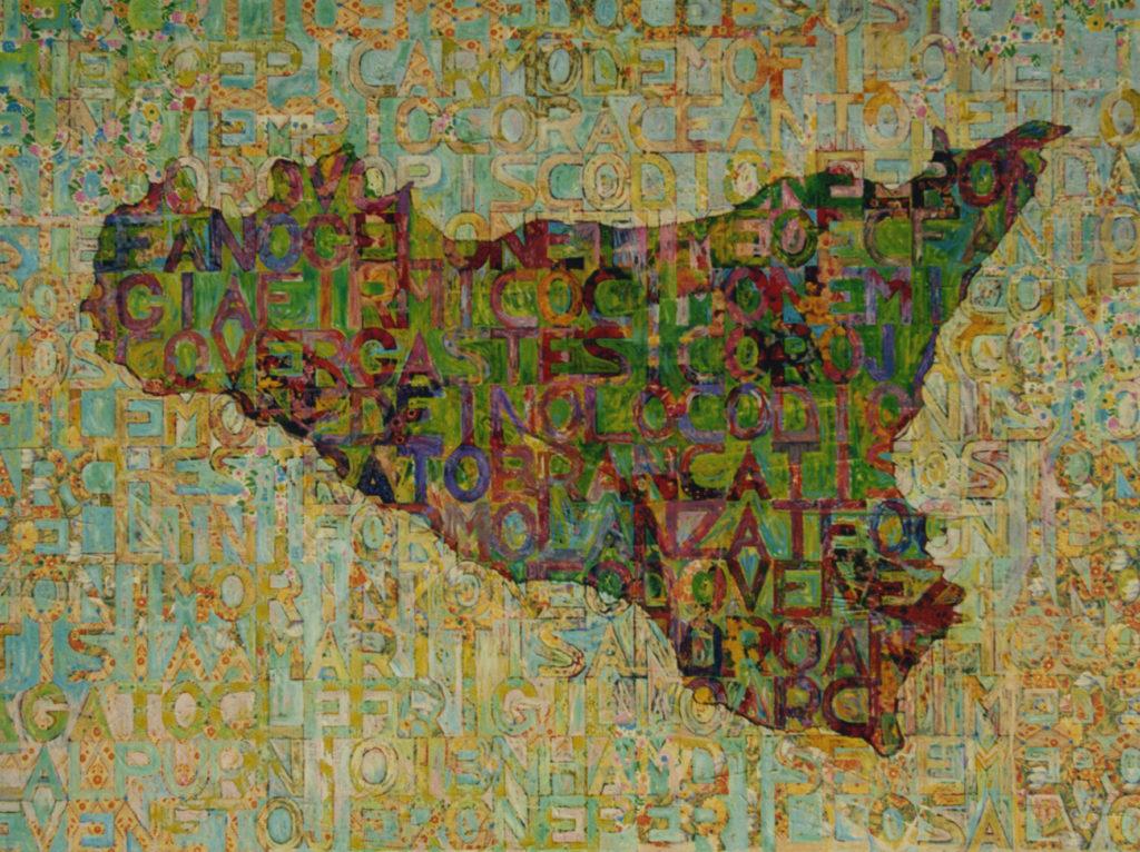 Sicilia, 1975, olio su carta, 150 x 200 cm