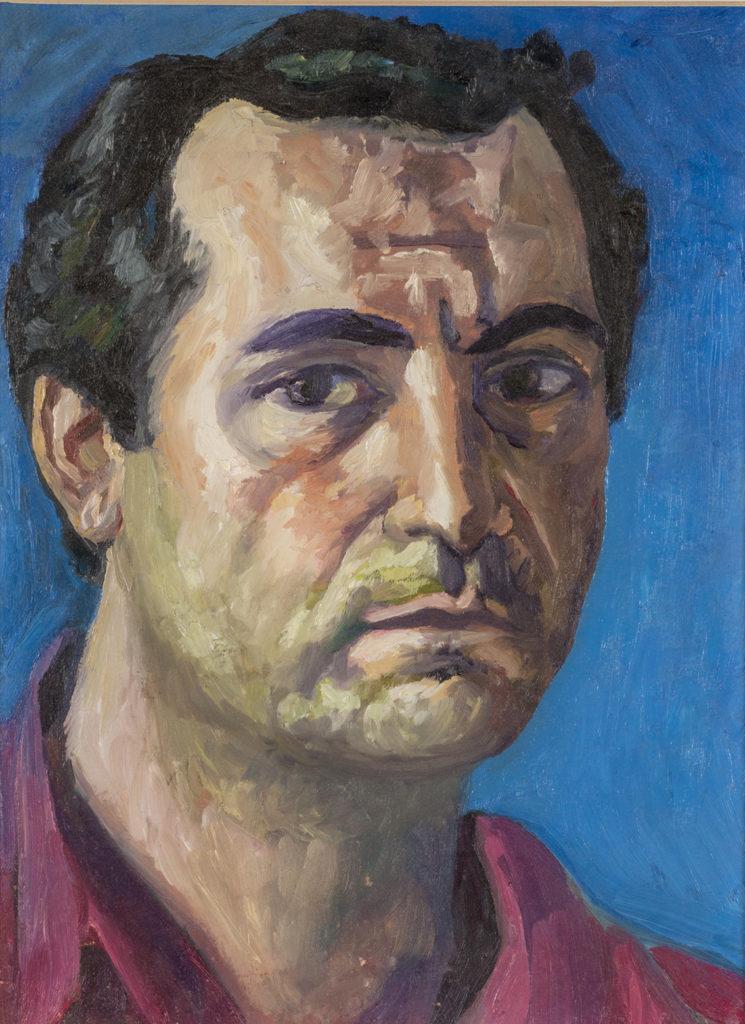 Autoritratto,1983, olio su cartoncino, 32,5 x 24 cm