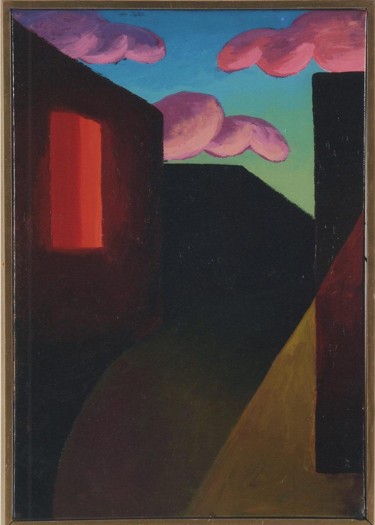Senza titolo, 1987, olio su carta applicata su tela, 38 x 26,5 cm