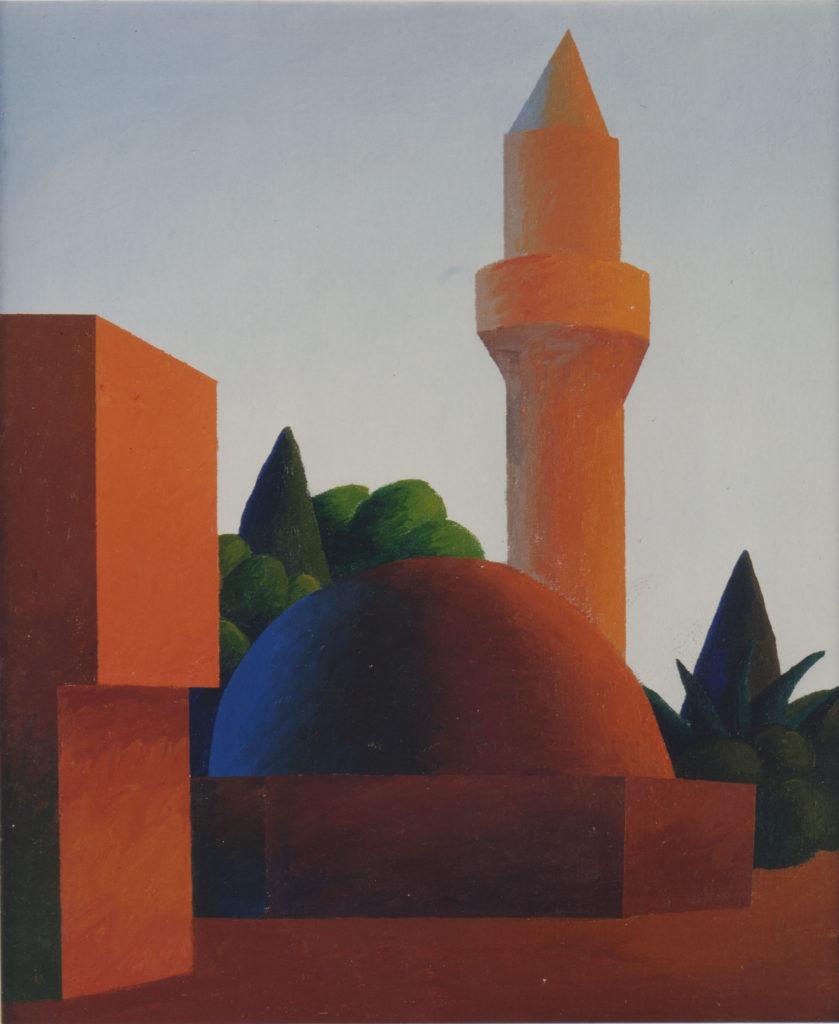 Moschea, 1993, olio su tela, 60 x 50 cm