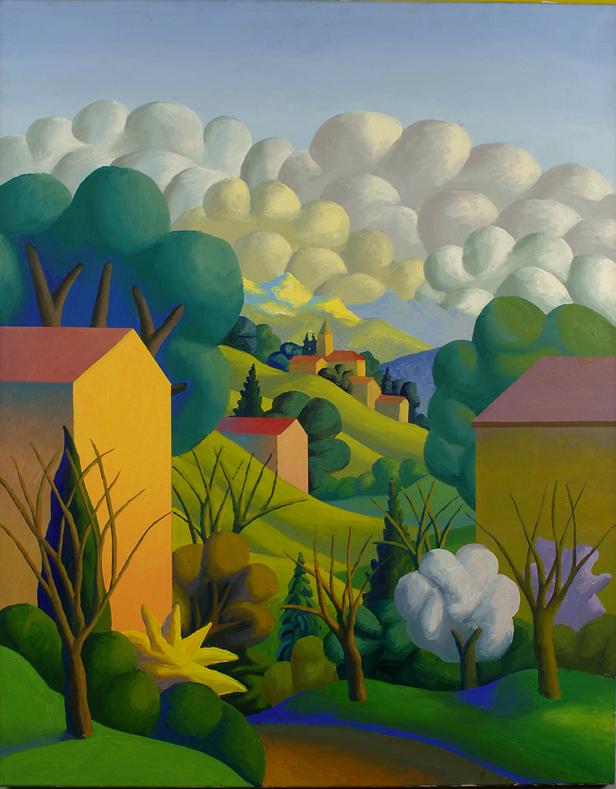 Prima primavera, 1998, olio su tela, 108 x 136 cm