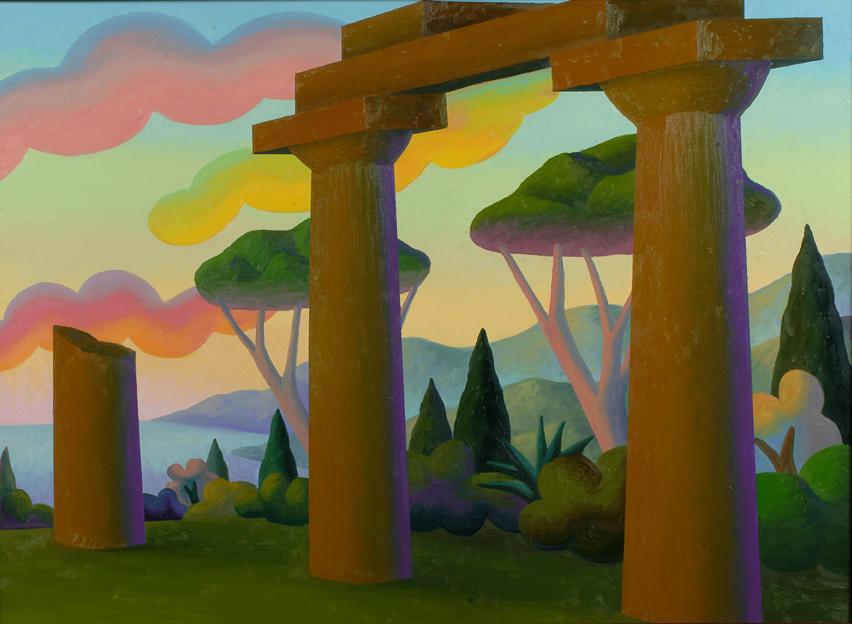 Una Sera, 1999, olio su tela, 95 x 125 cm