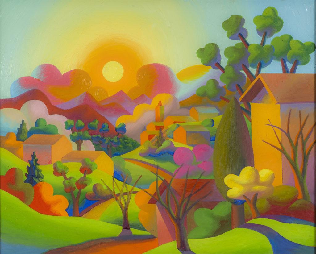 La Valle, 2007, olio su tela, 79 x 97,5 cm