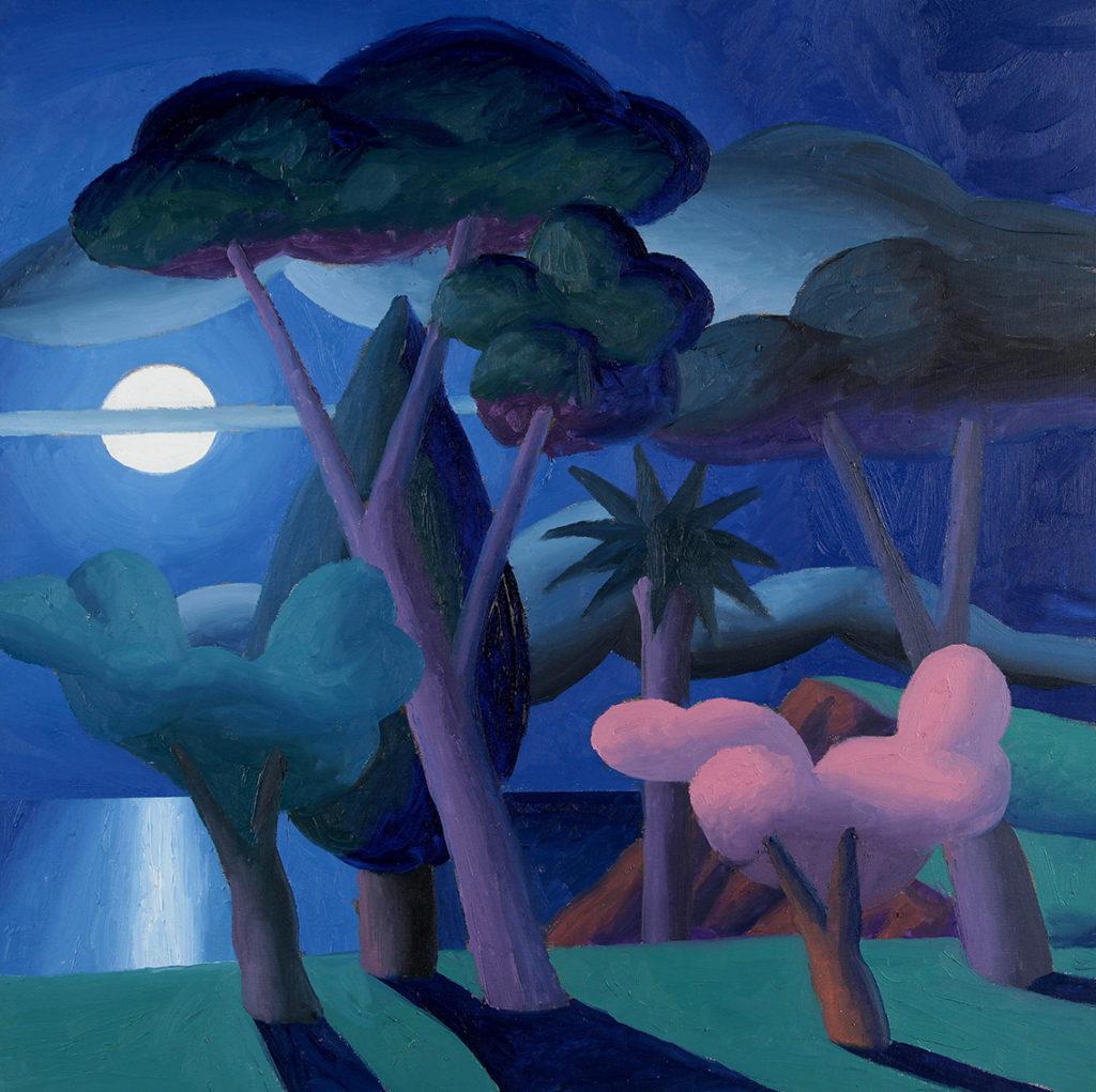 Chiaro di Luna, 2008, olio su tela, 50 x 50 cm
