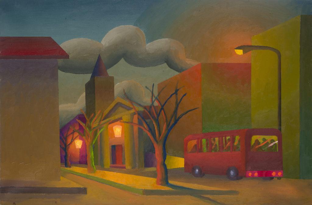La città, 2013, olio su tela, 40 x 60 cm