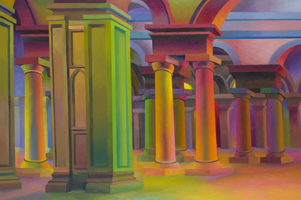 Edificio della maggiore sublimità, 2014, olio su tela, 100 x 150 cm